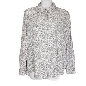 Jane and Delancey Heart Print Button Down Sleeve